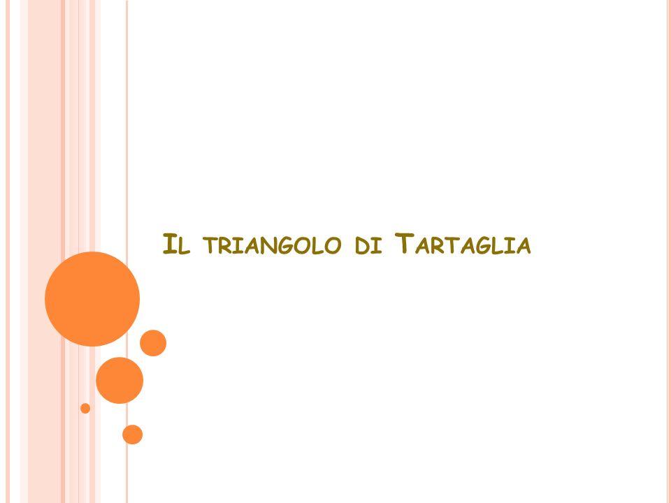 I L TRIANGOLO DI T ARTAGLIA