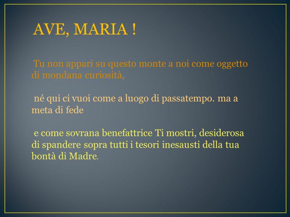 O Madre: salva il tuo popolo !