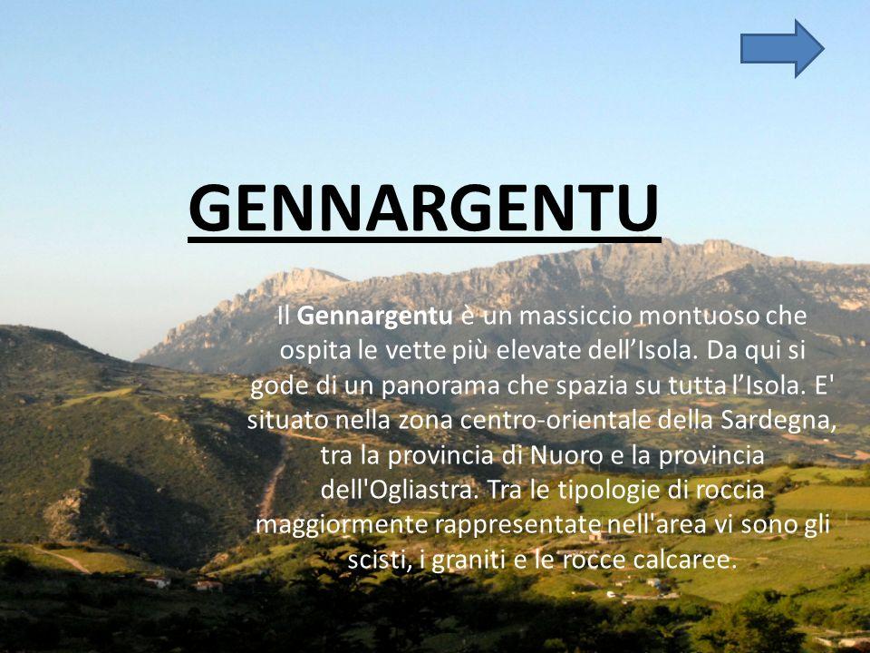 GENNARGENTU Il Gennargentu è un massiccio montuoso che ospita le vette più elevate dellIsola.