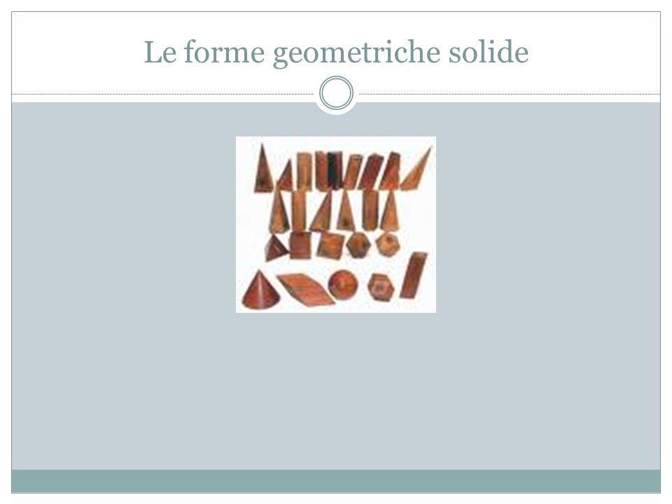 Le forme geometriche solide