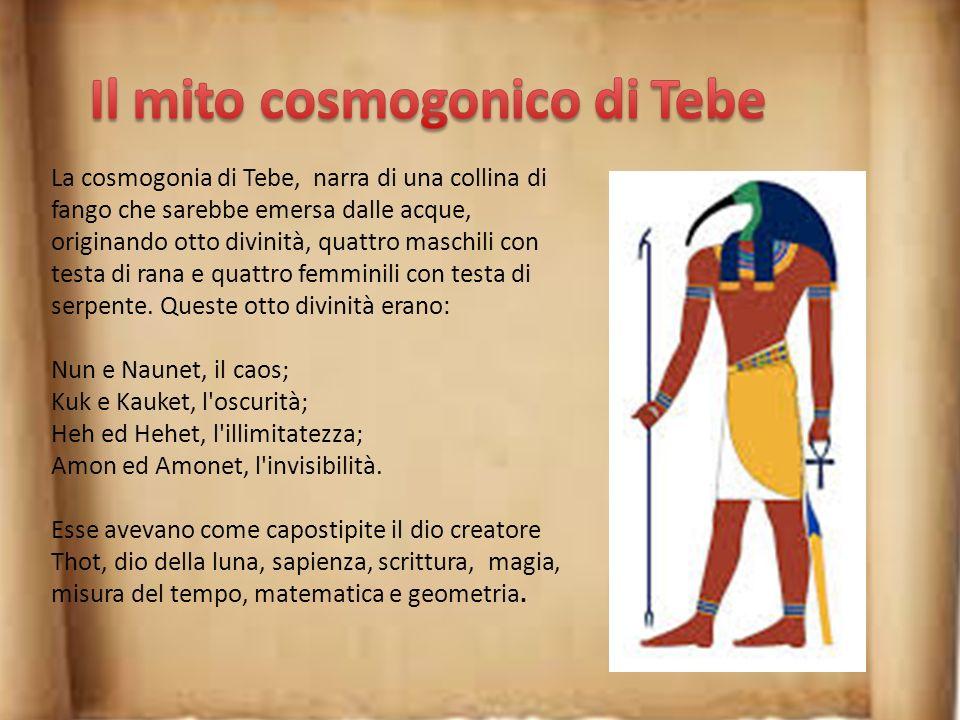 Secondo la dottrina di Menfi, la creazione del mondo sarebbe opera di Ptah, che con il cuore, sede del pensiero, e con la lingua, la parola che da vit