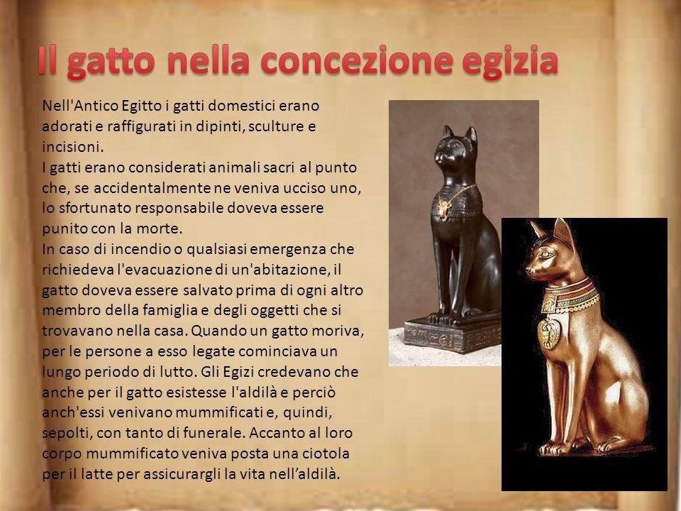 Bastet è una delle più importanti e venerate divinità dell'antica religione egizia, raffigurata o con sembianze femminili e testa di gatta o direttame