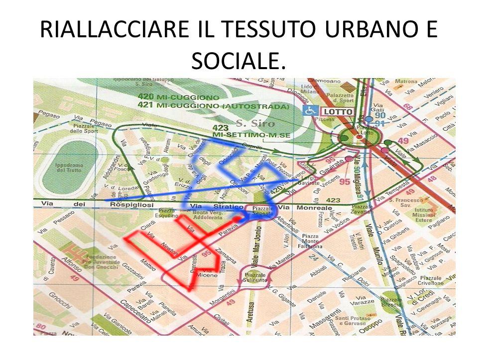 RIALLACCIARE IL TESSUTO URBANO E SOCIALE.