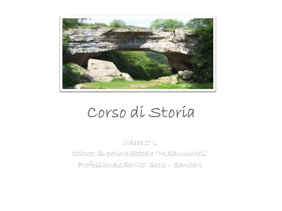 Corso di Storia Classe 1° L Istituto Superiore Statale M.Sanmicheli Professionale Servizi Socio - Sanitari
