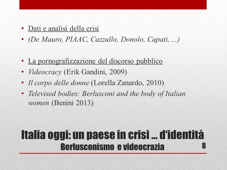 Italia oggi: un paese in crisi...