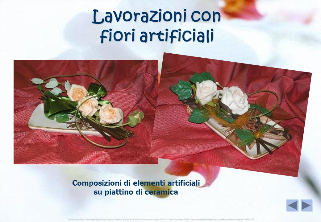 vassoi di vetro a decoupage o con fiori artificiali Idee regalo