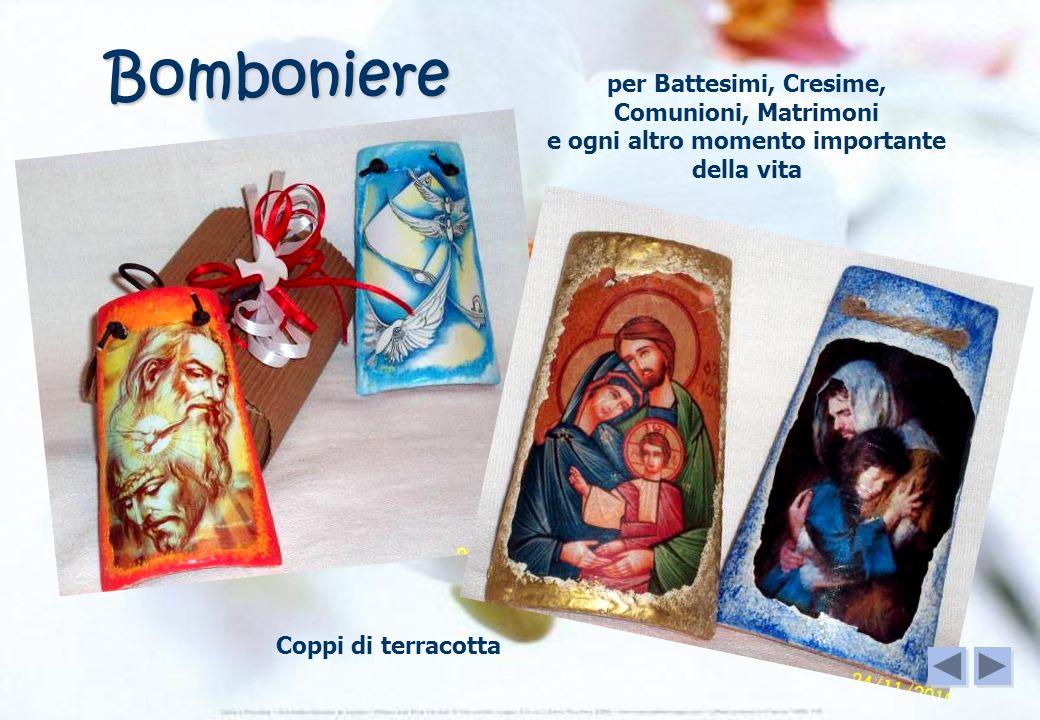 Bomboniere Coppi di terracotta per Battesimi, Cresime, Comunioni, Matrimoni e ogni altro momento importante della vita
