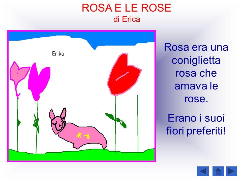 ROSA E LE ROSE di Erica Rosa era una coniglietta rosa che amava le rose. Erano i suoi fiori preferiti!