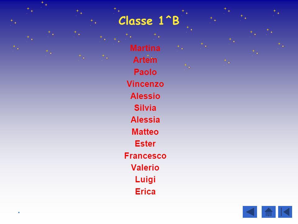 Classe 1^B Martina Artem Paolo Vincenzo Alessio Silvia Alessia Matteo Ester Francesco Valerio Luigi Erica