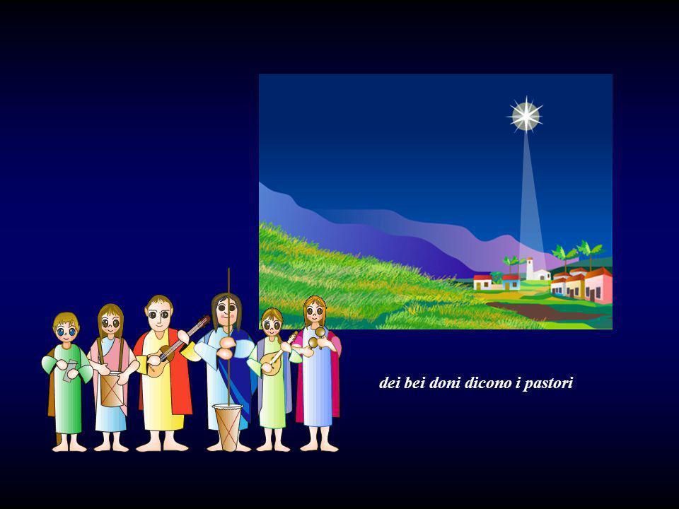 I tre Magi vengono dallOriente e portano al Bambino dei bei doni.