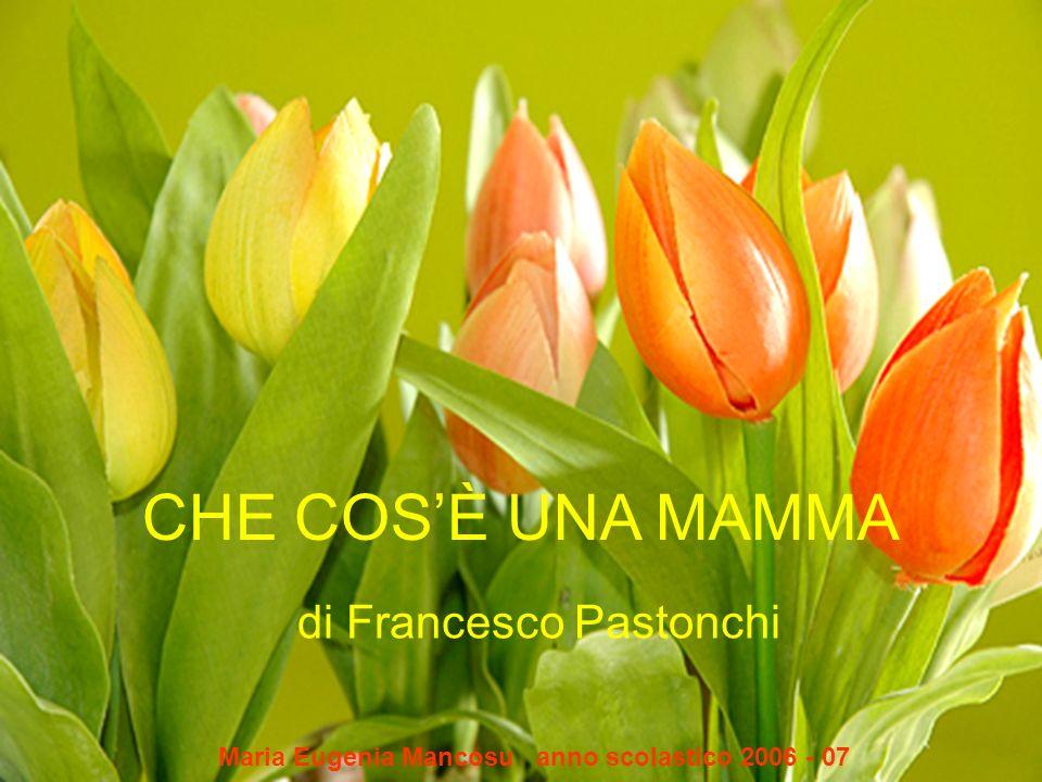 CHE COSÈ UNA MAMMA di Francesco Pastonchi Maria Eugenia Mancosu anno scolastico 2006 - 07