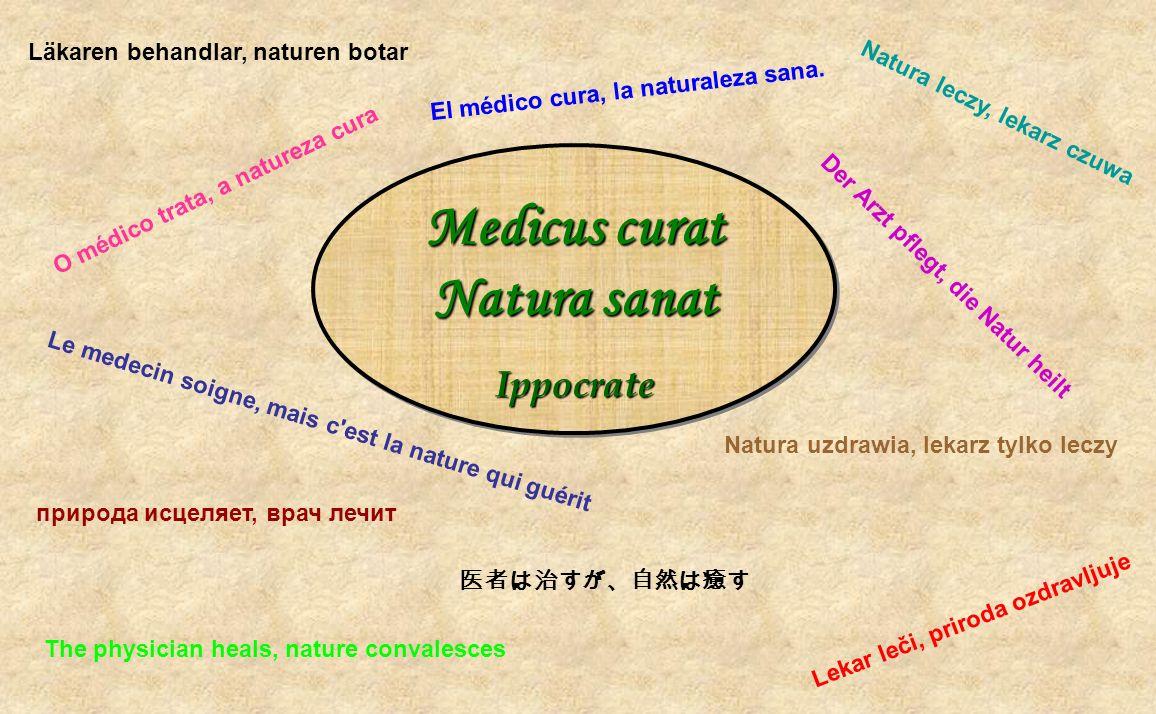 Medicus curat Natura sanat Ippocrate Ippocrate Medicus curat Natura sanat Ippocrate Ippocrate Läkaren behandlar, naturen botar Lekar leči, priroda ozd
