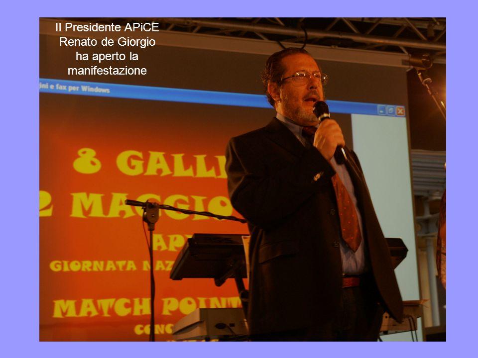 Il Presidente APiCE Renato de Giorgio ha aperto la manifestazione
