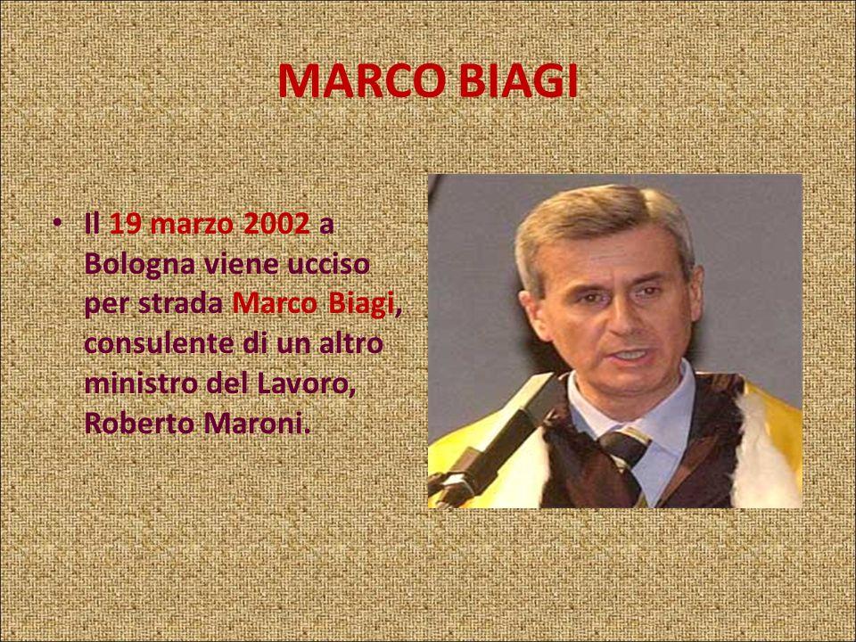 MASSIMO DANTONA Il 20 maggio 1999 a Roma veniva ucciso Massimo D'Antona, consigliere dell'allora ministro del Lavoro Antonio Bassolino. L'omicidio ven