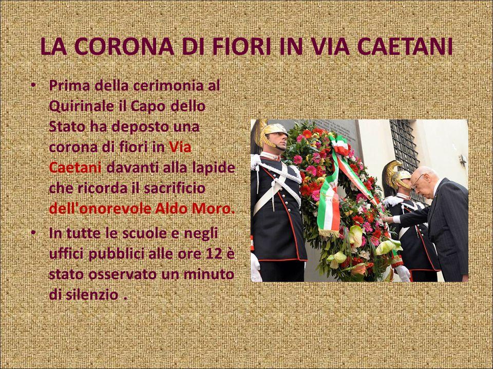 9 MAGGIO 2008 Si è svolta questa mattina, al Palazzo del Quirinale, alla presenza del Presidente della Repubblica, Giorgio Napolitano, la cerimonia di