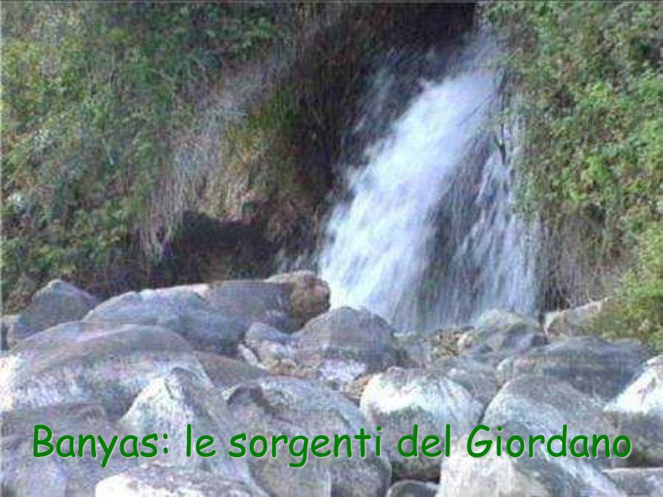Banyas: le sorgenti del Giordano