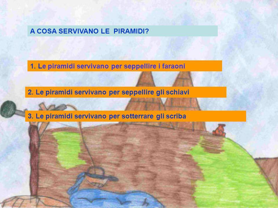 1. Palazzi 2.Tombe 3. Nascondigli Cos erano le piramidi ?