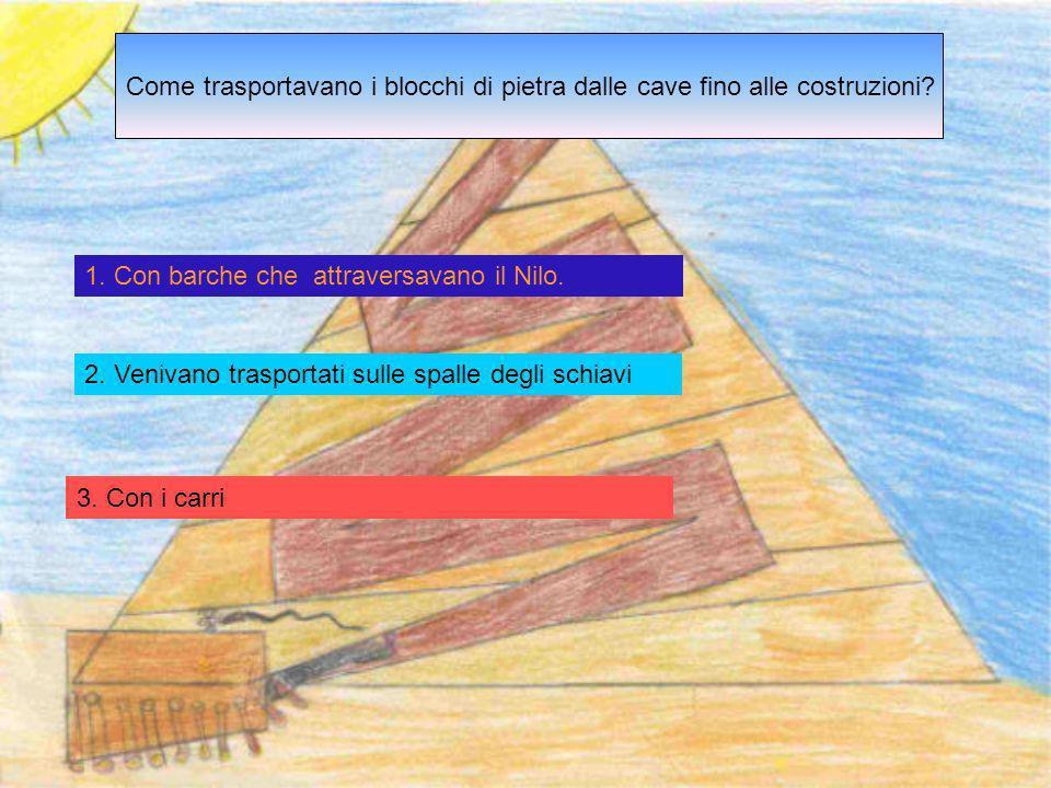 COME COSTRUIVANO LE PIRAMIDI GLI EGIZI ? 1. Gli Egizi costruivano le piramidi con blocchi di pietre. 2. Gli Egizi costruivano le piramidi con il fango