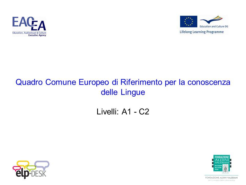 Quadro Comune Europeo di Riferimento per la conoscenza delle Lingue Livelli: A1 - C2