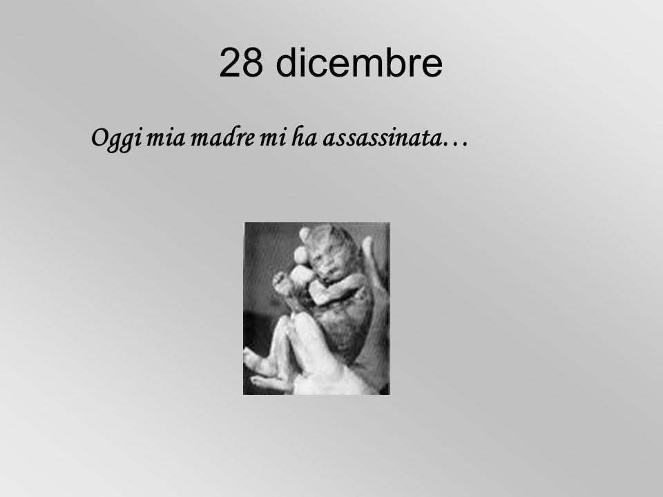 28 dicembre Oggi mia madre mi ha assassinata…