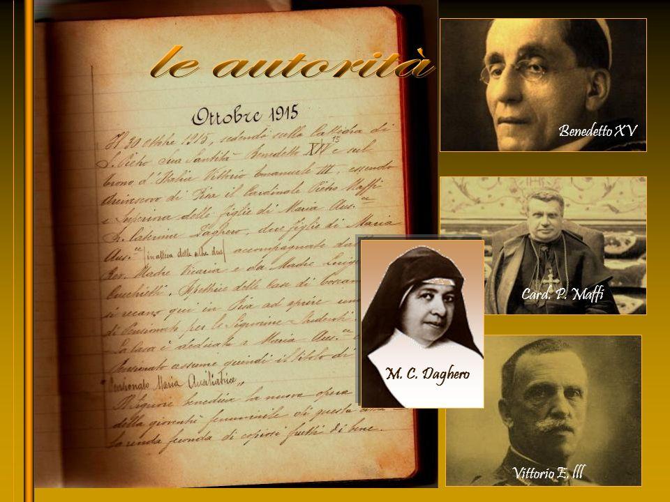 Tutto iniziò i primi dOttobre del 1915, quando il cardinale di Pisa Pietro MAFFI, accompagnato dallIspettrice di Toscana madre Luigina CUCCHIETTI, con un seguito di altre FMA, si recarono in Pisa al fine di fondare una Casa Pensionato per le signorine studenti.