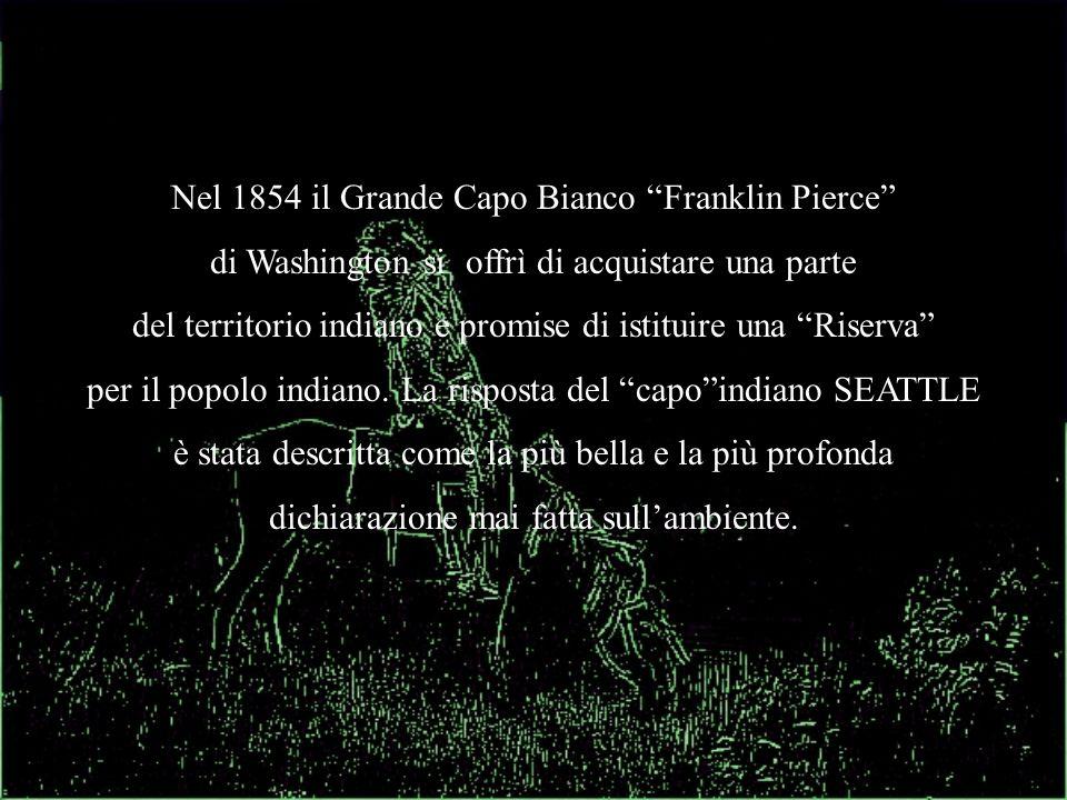Nel 1854 il Grande Capo Bianco Franklin Pierce di Washington si offrì di acquistare una parte del territorio indiano e promise di istituire una Riserv