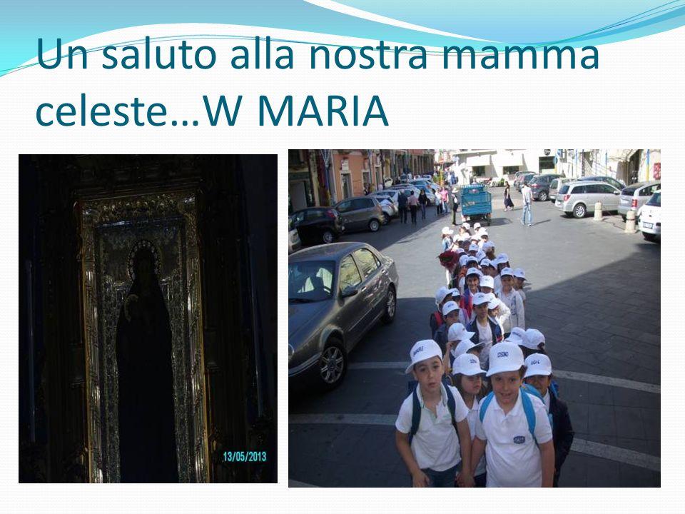 Un saluto alla nostra mamma celeste…W MARIA