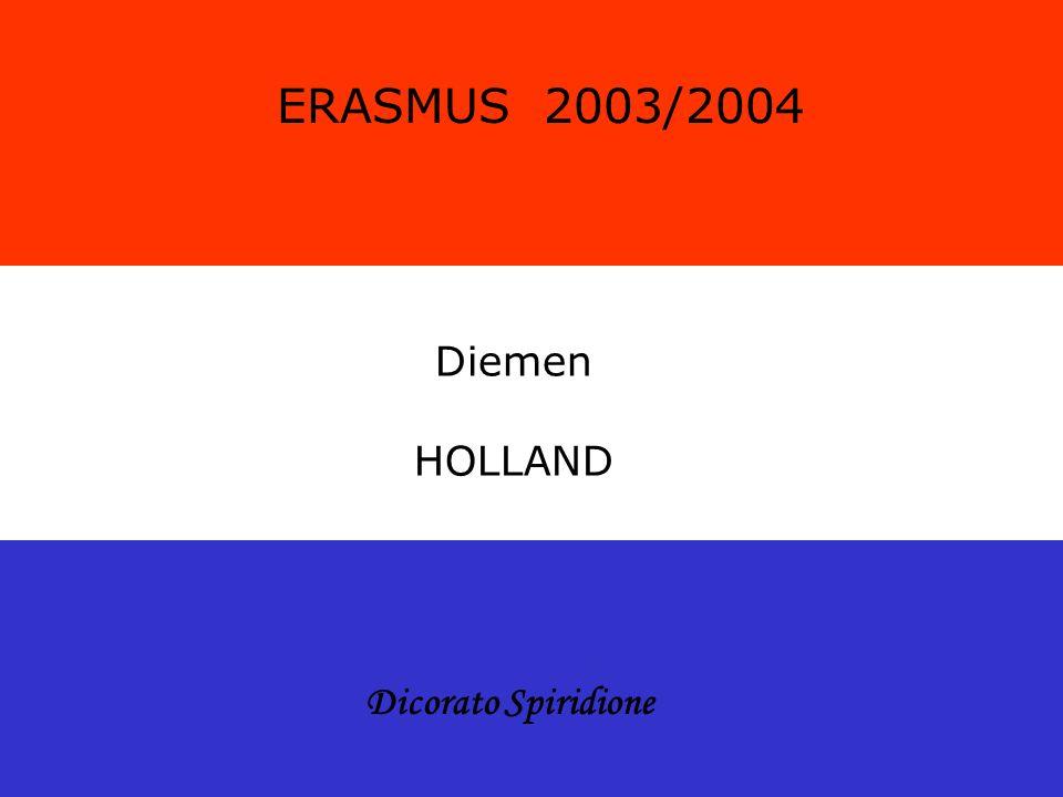 Diemen HOLLAND ERASMUS 2003/2004 Dicorato Spiridione