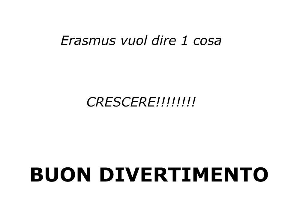 Erasmus vuol dire 1 cosa CRESCERE!!!!!!!! BUON DIVERTIMENTO
