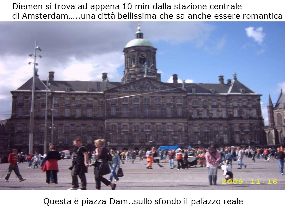 Diemen si trova ad appena 10 min dalla stazione centrale di Amsterdam…..una città bellissima che sa anche essere romantica Questa è piazza Dam..sullo