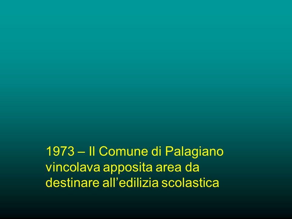 1973 – Il Comune di Palagiano vincolava apposita area da destinare alledilizia scolastica