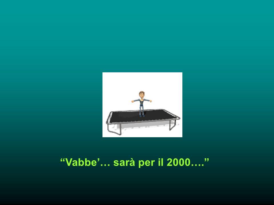 Vabbe… sarà per il 2000….