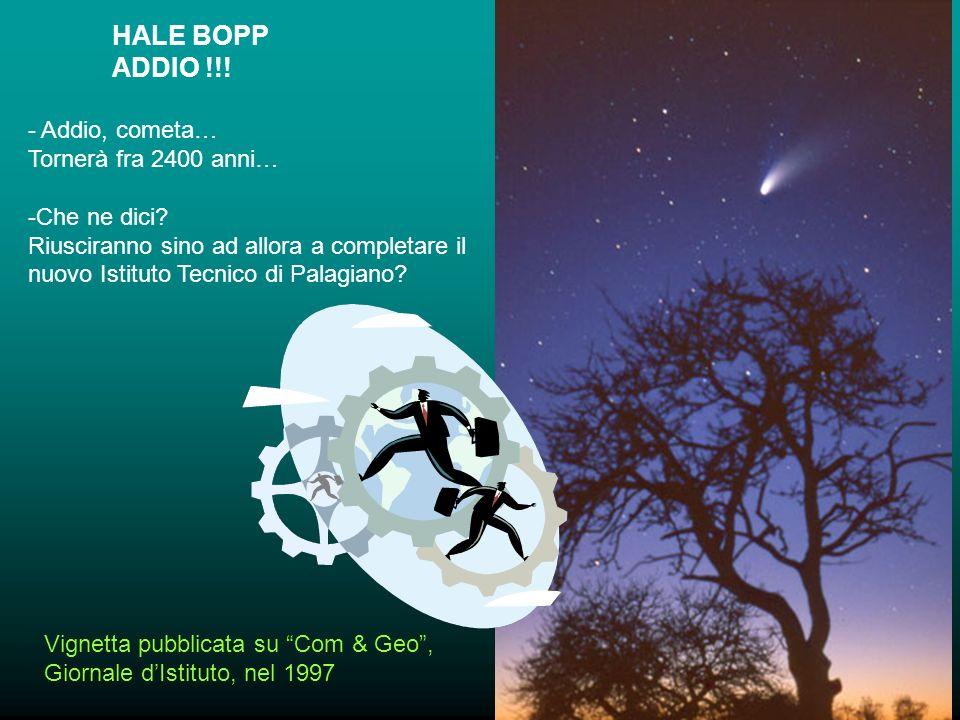 HALE BOPP ADDIO !!. - Addio, cometa… Tornerà fra 2400 anni… -Che ne dici.