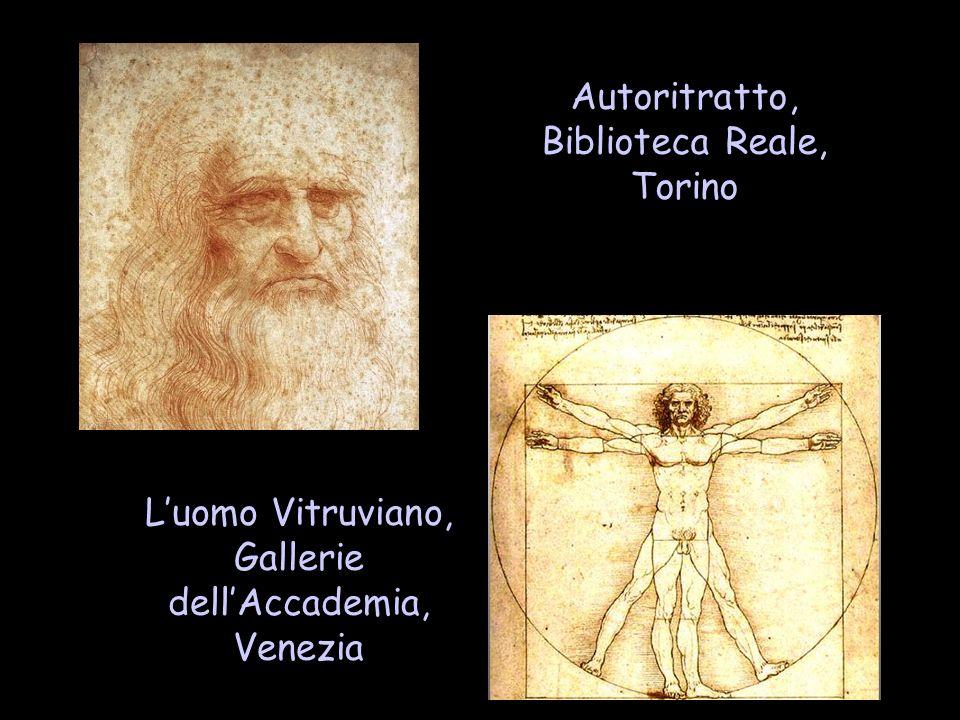 Autoritratto, Biblioteca Reale, Torino Luomo Vitruviano, Gallerie dellAccademia, Venezia