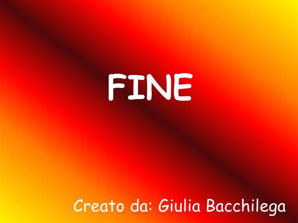 FINE Creato da: Giulia Bacchilega