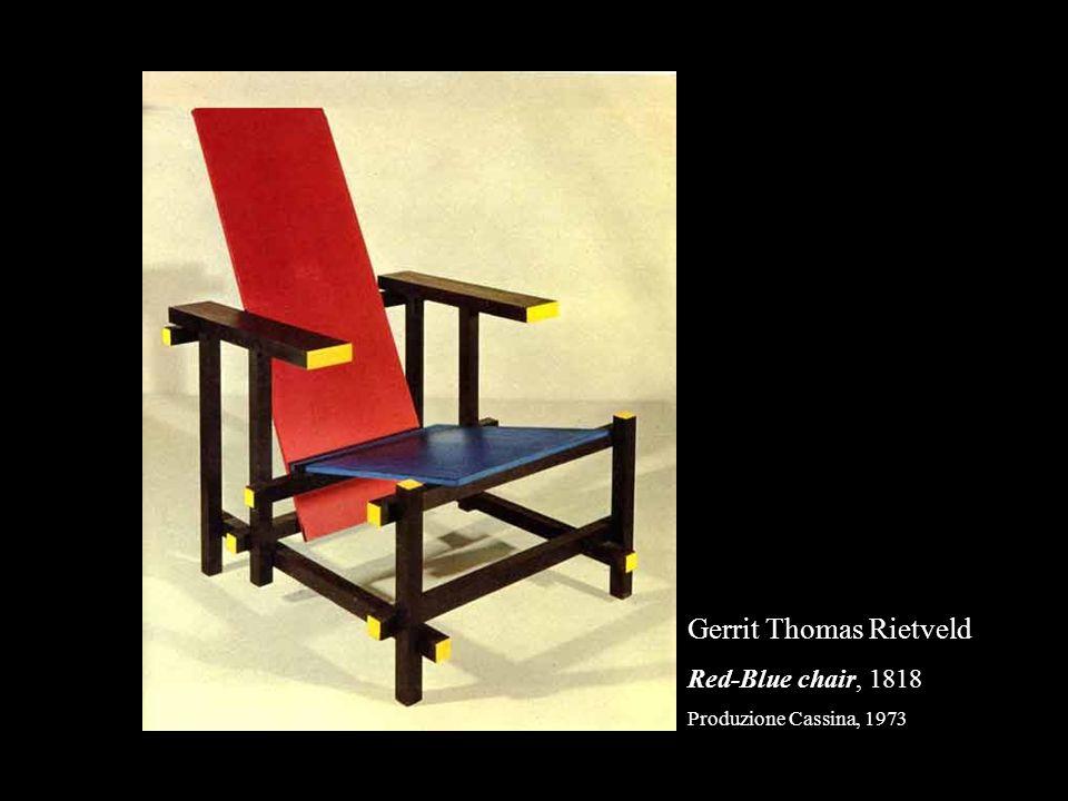 Gerrit Thomas Rietveld Red-Blue chair, 1818 Produzione Cassina, 1973