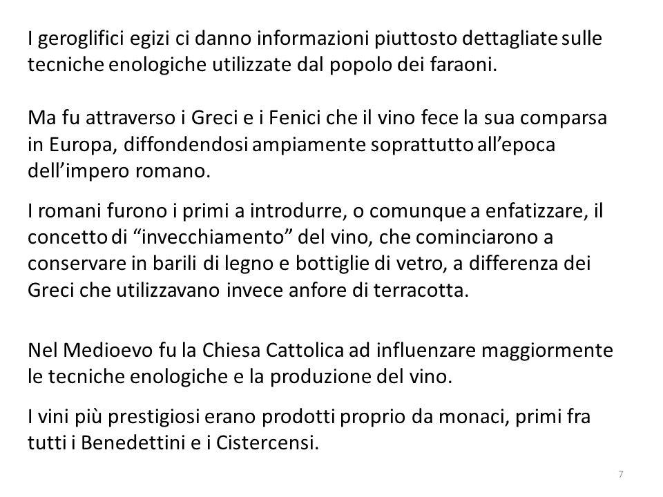Nel Medioevo fu la Chiesa Cattolica ad influenzare maggiormente le tecniche enologiche e la produzione del vino. I vini più prestigiosi erano prodotti