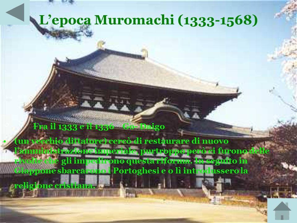 Lepoca Heian (794-1185) In questo periodo il Giappone godette per 350 anni di pace e prosperità. Dopo di esso gli imperatori cominciarono a delegare p