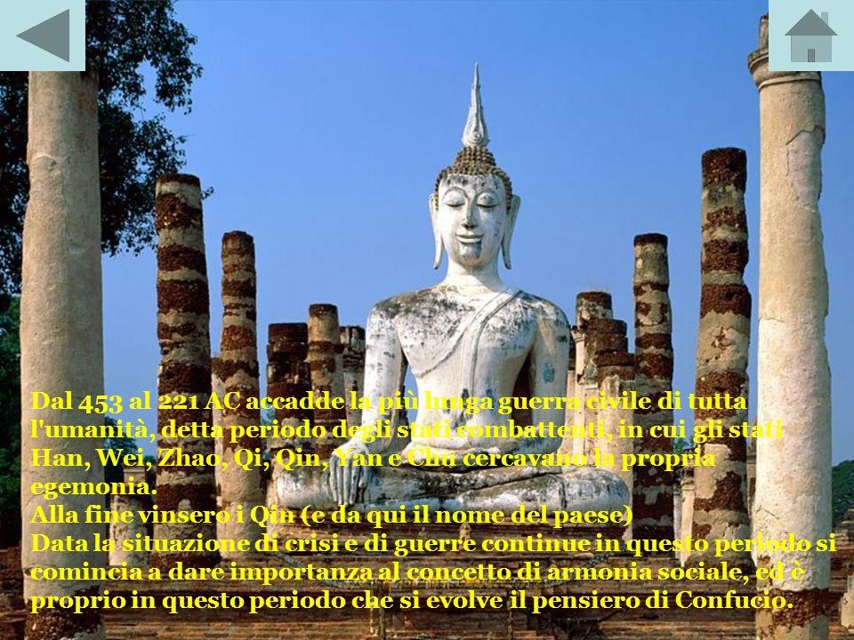 Dal 722 al 481 AC vi fu il Periodo delle primavere e degli autunni, nel quale la dinastia Zhou cercò di affermare il proprio potere sul paese, ma in s