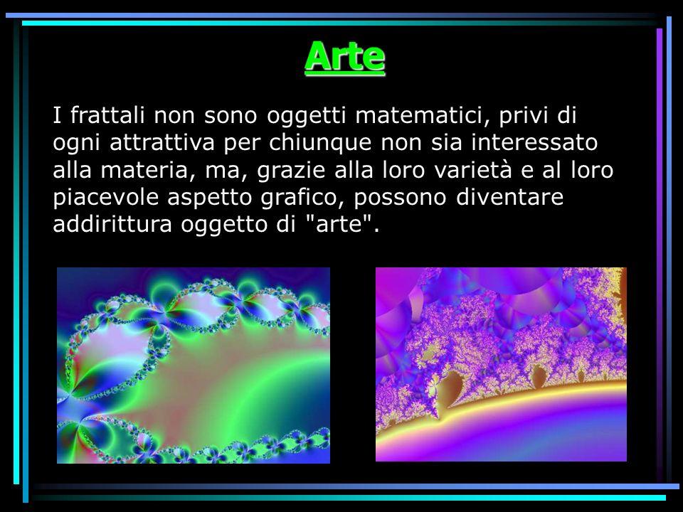 Arte I frattali non sono oggetti matematici, privi di ogni attrattiva per chiunque non sia interessato alla materia, ma, grazie alla loro varietà e al