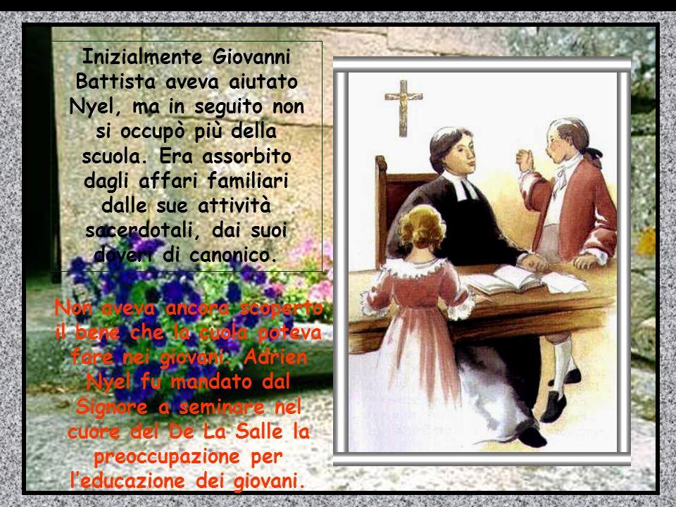 Poiché Nyel e il suo aiutante Cristoforo erano dei bravi maestri, la scuola di San Maurizio si riempì rapidamente di ragazzi contenti di venire a scuo