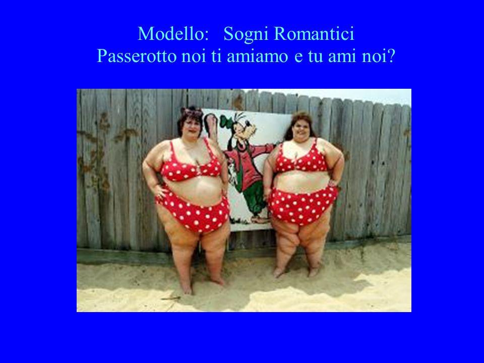 Modello: Sogni Romantici Passerotto noi ti amiamo e tu ami noi?