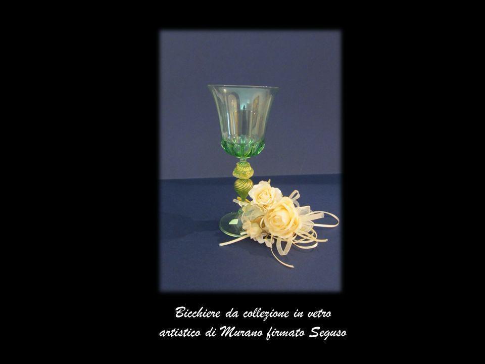 Bicchiere da collezione in vetro artistico di Murano firmato Seguso