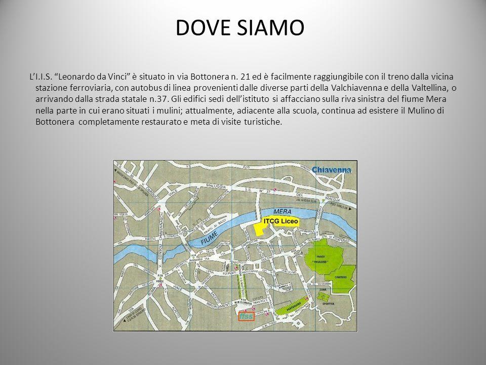 DOVE SIAMO LI.I.S. Leonardo da Vinci è situato in via Bottonera n. 21 ed è facilmente raggiungibile con il treno dalla vicina stazione ferroviaria, co