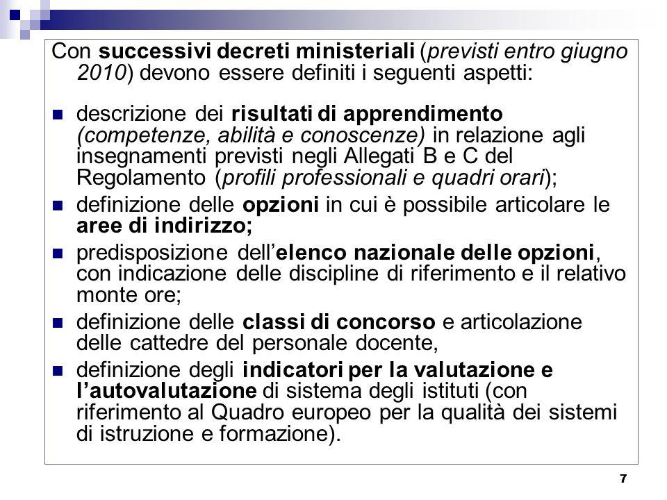 18 Ordinamento e organizzazione Gli ordinamenti dei percorsi di studio dei diversi ordini di scuola (percorsi liceali, di istruzione tecnica e professionale) sono definiti dallo Stato con regolamenti governativi.