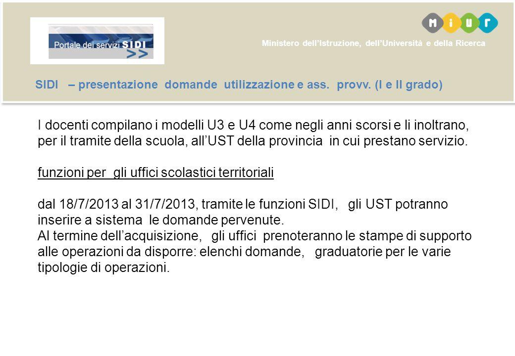 Ministero dellIstruzione, dellUniversità e della Ricerca Polis – presentazione domande utilizzazione a ass.