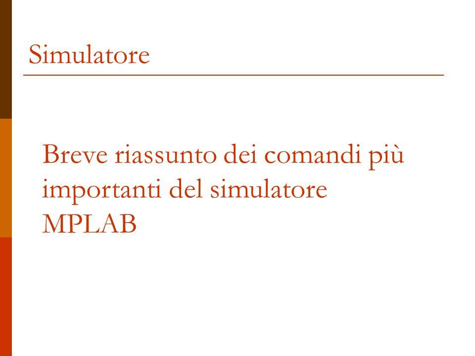 Simulatore: Selezione Selezione del simulatore da usare fra quelli a disposizione (quelli in grigio non sono attivi) Una volta selezionato il simulatore compaiono ulteriori opzioni (zone 1-2-3 dello slide successivo)