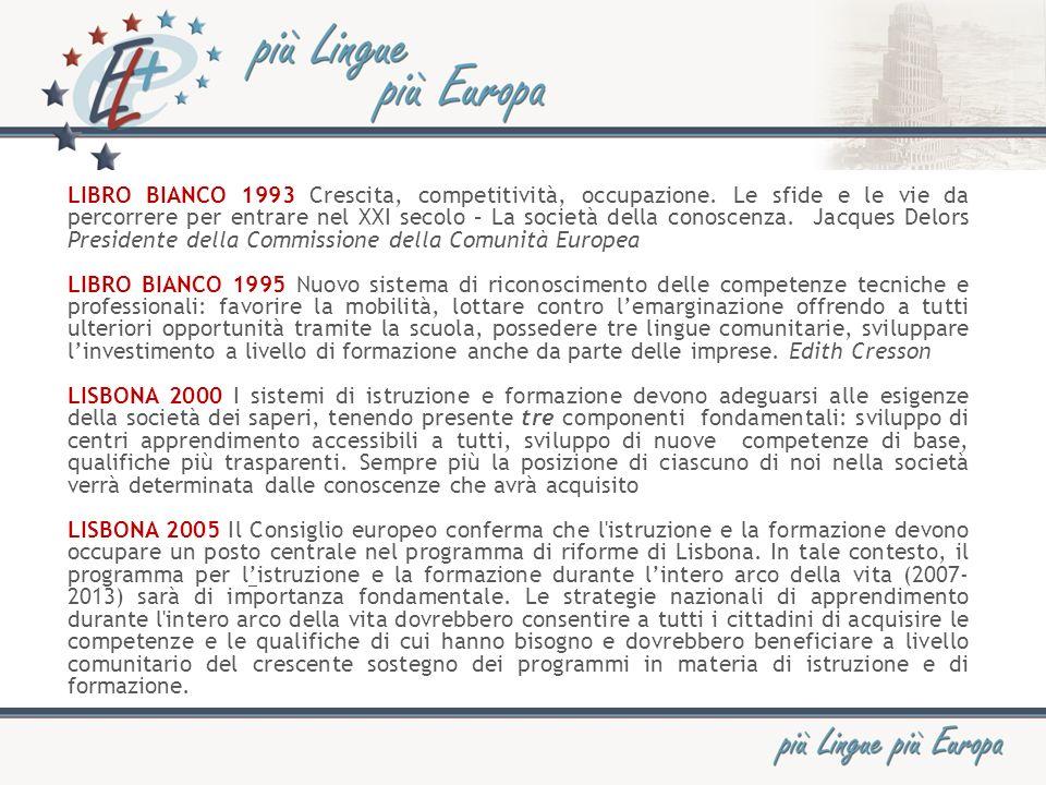 Piano dazione 2004-06 della Commissione Europea PROMUOVERE LAPPRENDIMENTO DELLE LINGUE E LA DIVERSITÀ LINGUISTICA Lapprendimento delle lingue per tutto larco della vita.