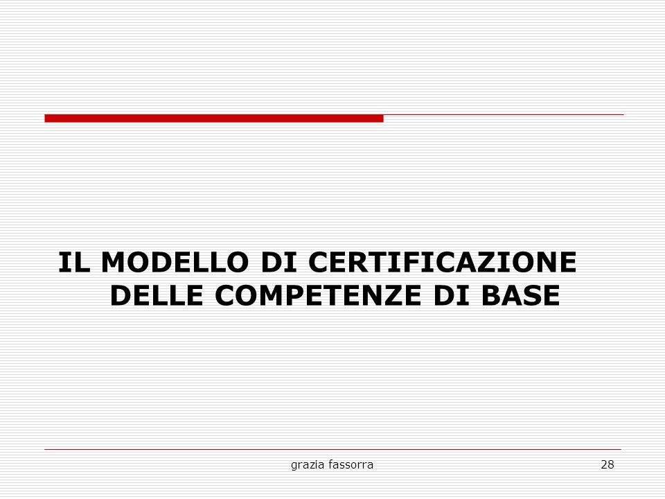 grazia fassorra28 IL MODELLO DI CERTIFICAZIONE DELLE COMPETENZE DI BASE