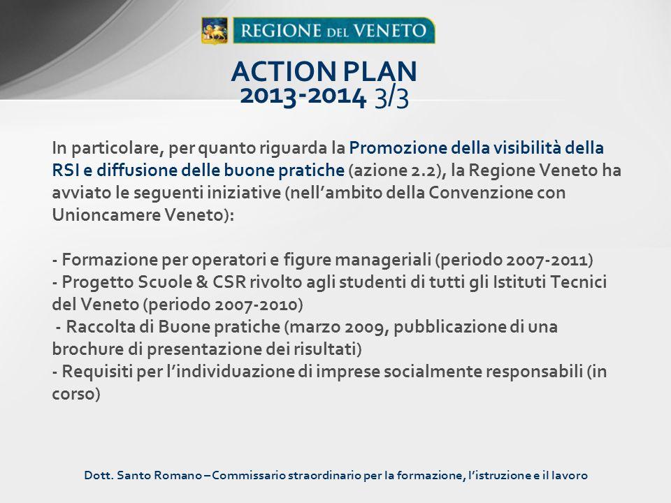 In particolare, per quanto riguarda la Promozione della visibilità della RSI e diffusione delle buone pratiche (azione 2.2), la Regione Veneto ha avvi